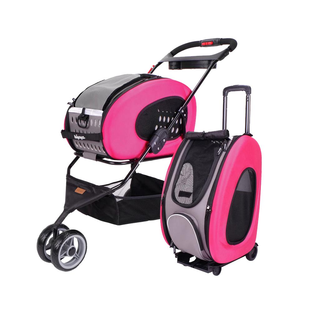 5 In 1 Combo Eva Pink Pet Carrier Stroller Luxury Package Ibiyaya
