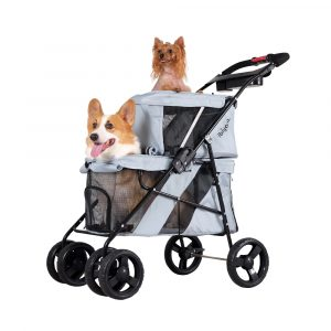 Double dog cat and dog stroller